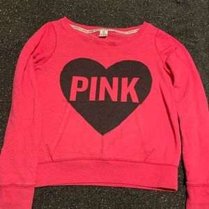 Pink Victoria secret crew neck with front pocket